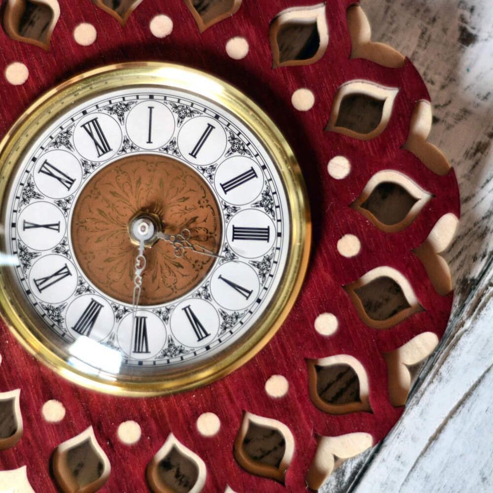 wooden persian clock